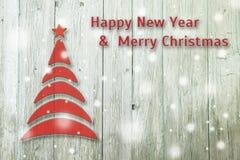 Begriffsbaum des neuen Jahres und des Weihnachten auf einem Hintergrund Stockfotografie