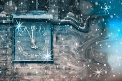 Begriffsbild der Abreise und der Ankunft des neuen Jahres, t lizenzfreie stockfotos