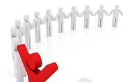 Begriffsbild der Teamwork Stockfotos