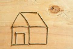 Begriffsbild eines Hauses und der Sonne Stockfoto