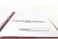 Begriffsbild mit dem Wort Feedback Lizenzfreies Stockbild