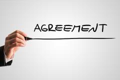 Begriffsbild mit der Wort Vereinbarung Lizenzfreies Stockfoto