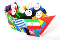 Begriffsbild von internationalen Beziehungen Stockbilder