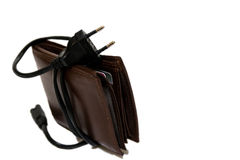 Begriffsbild von teuren Stromkosten lizenzfreies stockbild