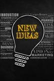Begriffsdesign von neuen Ideen Stockbilder