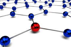 Begriffsdiagramm des Netzes Stock Abbildung