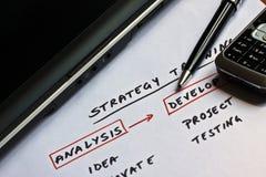 Begriffsentwurf für eine Geschäftsstrategie Lizenzfreie Stockfotos