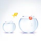 Begriffsfisch-Versuchung lizenzfreie abbildung