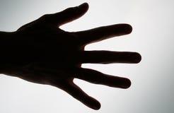 Begriffsfoto einer Hand betriebsbereit zu nehmen oder zu erzielen Stockfoto