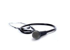 Begriffsgegenstand, der Doktoren und über Wissen spricht Stockbilder