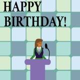Begriffshandschrift, die alles Gute zum Geburtstag zeigt Geschäftsfoto-Text Glückwünsche, die Jahrestag feiern lizenzfreie abbildung
