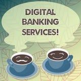 Begriffshandschrift, die Bankdienstleistungen Digital zeigt Geschäftsfoto-Text Digital-Analog-Wandlung aller altmodischen ein Ban vektor abbildung