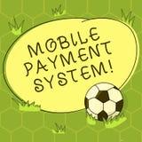 Begriffshandschrift, die bewegliches Zahlungs-System zeigt Geschäftsfoto Präsentationszahlungsdienstleistung erbracht über Mobile vektor abbildung