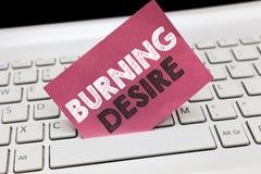 Begriffshandschrift, die brennenden Wunsch zeigt Das Geschäftsfoto, das extrem interessiert für etwas zur Schau stellt, wünschte  lizenzfreies stockbild