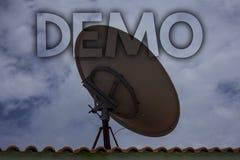 Begriffshandschrift, die Demo zeigt Geschäftsfototext Probe-Beta Version Free Test Sample-Vorschau von etwas Prototyp-Ideen lizenzfreie stockfotografie
