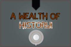 Begriffshandschrift, die einen Reichtum der Geschichte zeigt Alte Kulturen der wertvollen alten Geschichten des Geschäftsfototext vektor abbildung