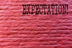 Begriffshandschrift, die Erwartung zeigt Sagt meteorologischer Forschungsanalytiker des Geschäftsfototextes Wettervorhersage Zieg lizenzfreie abbildung