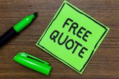 Begriffshandschrift, die freies Zitat zeigt Das Geschäftsfoto, das kurze Phrase A zur Schau stellt, die ist, hat normalerweise di stockfoto