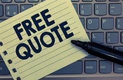 Begriffshandschrift, die freies Zitat zeigt Das Geschäftsfoto, das kurze Phrase A zur Schau stellt, die ist, hat normalerweise di lizenzfreies stockbild