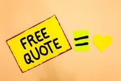 Begriffshandschrift, die freies Zitat zeigt Memorandumphrase des Geschäftsfototextes A, die ist, hat normalerweise die impotant M lizenzfreie stockfotos