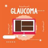 Begriffshandschrift, die Glaukom zeigt Geschäftsfoto Präsentationsaugenkrankheiten, die Schaden des Optik ergeben stock abbildung