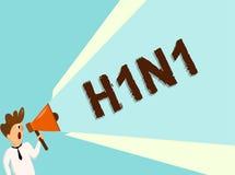 Begriffshandschrift, die H1N1 zeigt Erkrankung der Atemwege Geschäftsfototext Schweinegrippe, die das meiste Common durch Grippe  stock abbildung