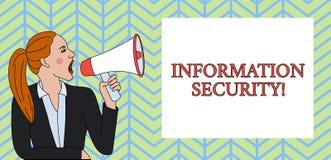 Begriffshandschrift, die Informationssicherheit zeigt Gesch?ftsfoto-Text INFOSEC, das den unberechtigten Zugriff ist verhindert lizenzfreie abbildung