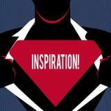 Begriffshandschrift, die Inspiration zeigt Geschäftsfoto-Text Anregung, zum etwas zu glauben oder zu tun kreativ vektor abbildung