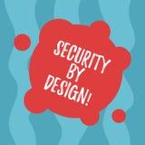 Begriffshandschrift, die mit Absicht Sicherheit zeigt Geschäftsfototext-Software ist von der Grundlage zum sicheren freien Raum e stock abbildung