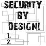 Begriffshandschrift, die mit Absicht Sicherheit zeigt Geschäftsfototext-Software ist von Grundlage zu Safe entworfen worden lizenzfreie abbildung