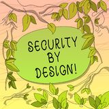 Begriffshandschrift, die mit Absicht Sicherheit zeigt Präsentationssoftware des Geschäftsfotos ist von Grundlage zu Safe entworfe lizenzfreie abbildung