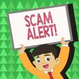 Begriffshandschrift, die Scam-Alarm zeigt Das Geschäftsfoto, das betrügerisch zur Schau stellt, erhalten Geld vom Opfer vorbei vektor abbildung