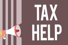 Begriffshandschrift, die Steuer-Hilfe zeigt Geschäftsfoto Präsentationsunterstützung vom obligatorischen Beitrag zum Zustand reve vektor abbildung