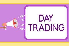 Begriffshandschrift, die Tageshandel zeigt Präsentationsaktien des Geschäftsfotos, die speziell Finanz-instru kaufen und verkaufe vektor abbildung