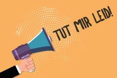 Begriffshandschrift, die Tut Mir Leid zeigt Geschäftsfototext, der Verzeihen bittet um, was in der Vergangenheit getan worden sin stock abbildung
