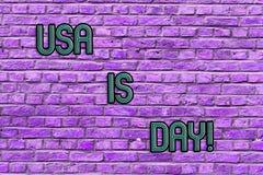 Begriffshandschrift, die USA Memorial Day zeigt Geschäftsfoto-Text-Bundesfeiertag an das Darstellen erinnernd, das Weile starb lizenzfreies stockfoto