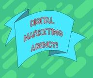 Begriffshandschrift, die vermarktende Agentur Digital zeigt Geschäftsfototext Hilfsgeschäft in den genauen Zielgruppen sich engag stock abbildung