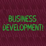 Begriffshandschrift, die wirtschaftliche Entwicklung zeigt Gesch?ftsfoto, das strategische Gelegenheiten f?r a aus?bend zur Schau stock abbildung