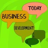 Begriffshandschrift, die wirtschaftliche Entwicklung zeigt Gesch?ftsfototext, der strategische Gelegenheiten f?r ein sicheres aus stock abbildung