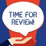 Begriffshandschrift, die Zeit f?r Bericht zeigt Gesch?ftsfoto, das formale Einsch?tzung von etwas mit Absicht zur Schau stellt stock abbildung