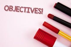 Begriffshandschrift, die Zielen Motivanruf zeigt Geschäftsfoto-Text Ziele planten erzielt zu werden wünschten Ziele wri stockfotos