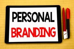 Begriffshandschriftstext-Titelinspiration, die persönliches Branding zeigt Geschäftskonzept für das Marken-Gebäude geschrieben au Lizenzfreies Stockbild