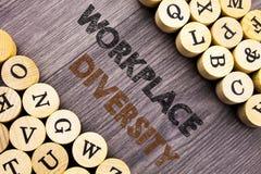 Begriffshandschrifttext, der Arbeitsplatz-Verschiedenartigkeit zeigt Konzept, das Unternehmenskultur-globales Konzept für die Unf lizenzfreie stockbilder