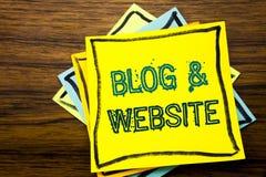 Begriffshandschrifttext-Titelinspiration, die Blog-Website zeigt Geschäftskonzept für das Blogging Sozialnetz geschrieben auf kle Lizenzfreie Stockbilder
