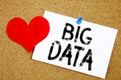 Begriffshandschrifttext-Titelinspiration, die großes Datenkonzept für Speichernetz-on-line-Server und die Liebe geschrieben auf S Stockfotos