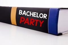 Begriffshandschrifttext-Titelinspiration, die Jungesellen-Party zeigt Geschäftskonzept für Hirsch-Spaß Celebrate geschrieben auf  Lizenzfreies Stockbild
