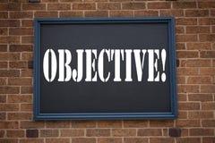 Begriffshandschrifttexttitel, der Mitteilung Ziel zeigt Geschäftskonzept für unparteiisches neutrales abgetrenntes auf Tatsachen  Stockbilder