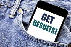 Begriffshandschrifttexttitel-Inspirationsvertretung erhalten Ergebnisse Geschäftskonzept für Achieve Ergebnis schriftliches Telef Lizenzfreies Stockbild
