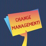 Begriffshandschriftvertretung Änderungs-Management Geschäftsfoto, das zur Schau stellen, Führungen zu ersetzen oder Leute verantw lizenzfreie abbildung