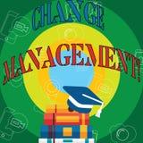 Begriffshandschriftvertretung Änderungs-Management Geschäftsfototext Führungen ersetzen oder Leute verantwortlich vektor abbildung